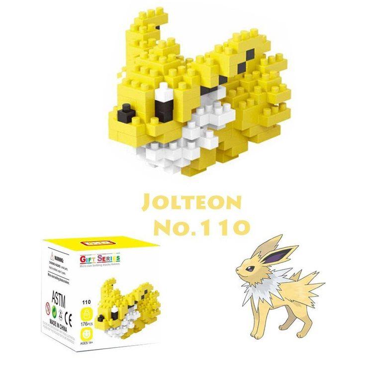 Pocket Pokemon Jolteon Figures from Building Blocks