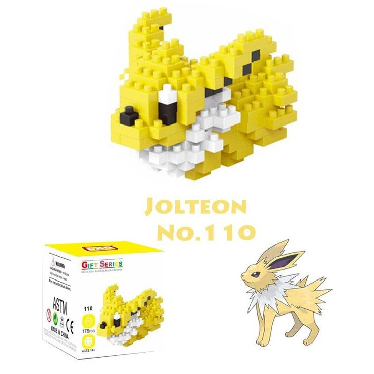 Pocket Pokemon Jolteon Figures from Building Blocks