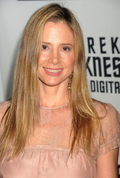 Actress Mira Sorvino attends the Paramount Pictures' celebration of the BluRay and DVD debut of 'Star Trek Into Darkness' at California Science...