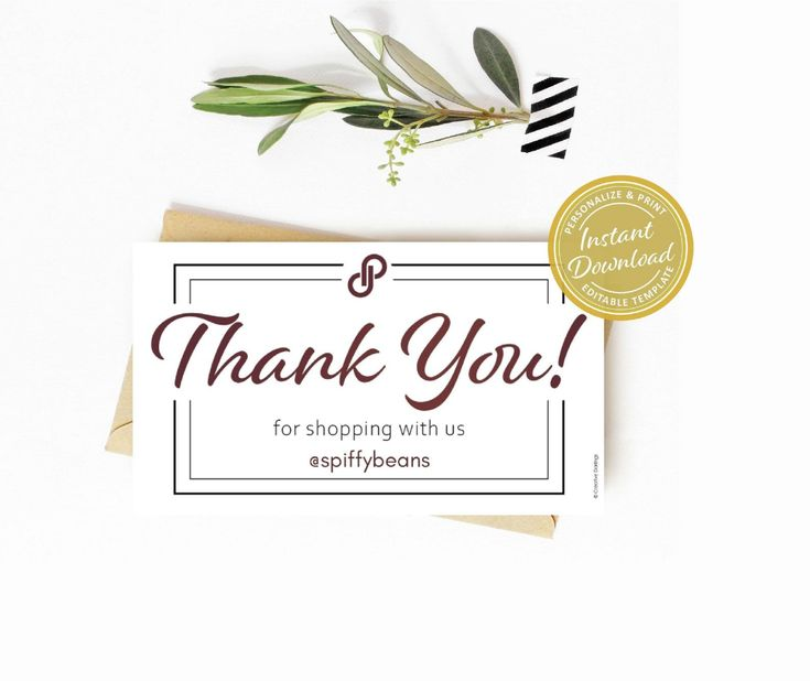poshmark thank you small business card size personalized