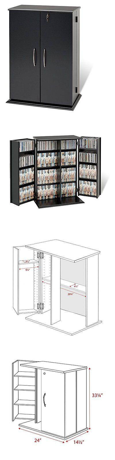 CD and Video Racks 22653: Media Storage Cabinet With Doors Drawers Cd Tower Dvd Shelf Rack Black Locking -> BUY IT NOW ONLY: $125.8 on eBay!