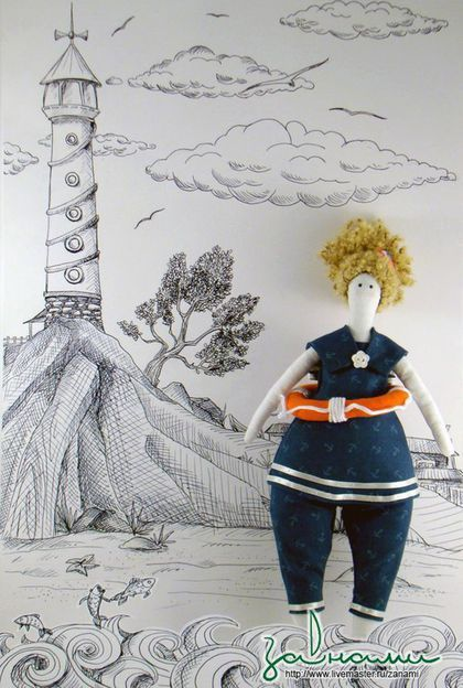 Казакова Наталья. Текстильная кукла `Морячка Марина`.