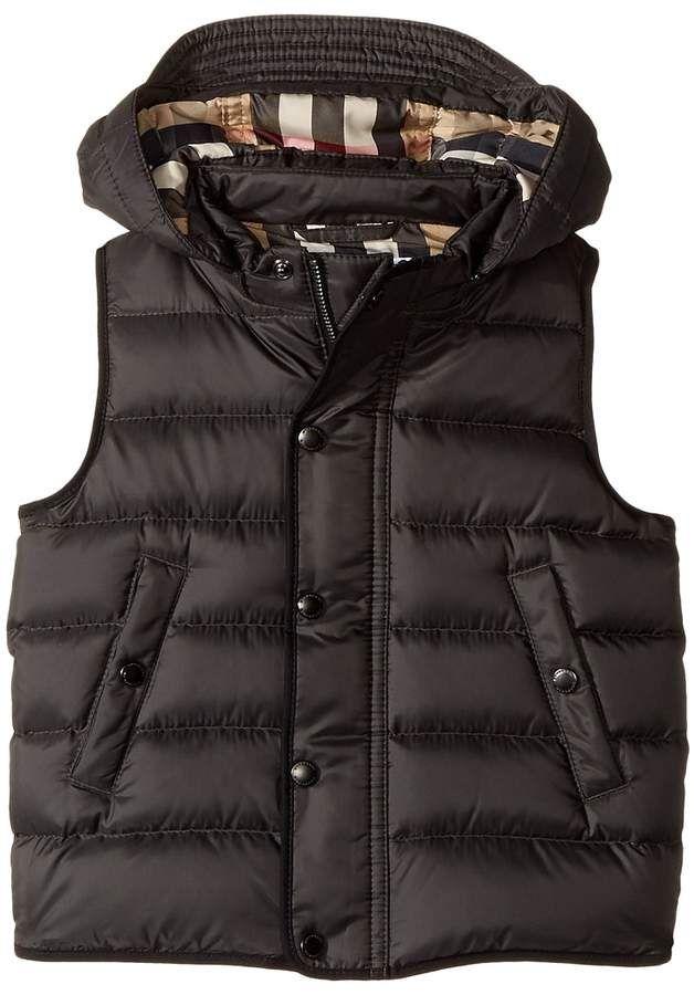 53c443f36382 Burberry Kids - Mini Carlton Puffer Boy s Coat vest lumberjack black ...