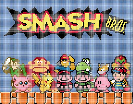 """with all the super smash bros brawl hype for the Wii, I thought I'd make my own pattern for my favorite version of the series. Most of you might be thinking...""""hey, the original was super smash bro..."""