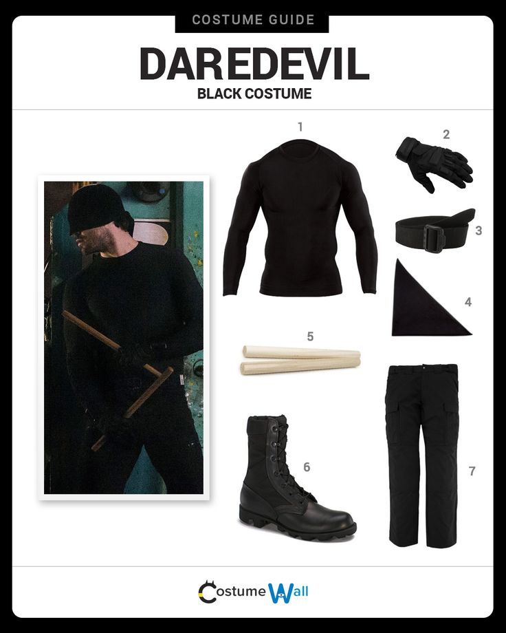 Get the Daredevil costume that Matt Murdock uses as his crime fighting alter ego in the Marvel Netflix series.