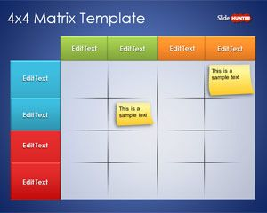 Free 4x4 Matrix Template for PowerPoint is a cool PowerPoint Matrix design that you can download to prepare presentations in Microsoft PowerPoint