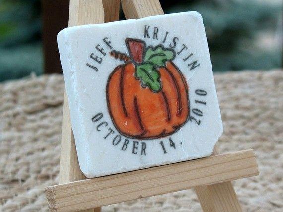 Fall Pumpkin Wedding Favor Magnets Set of 25 by MyLittleChick, $61.25