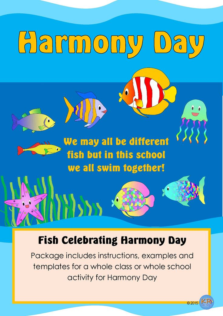 Harmony Day - We May all be different Fish But in this school we all swim together! - Celebrate Cultural Diversity and Tolerance with students!