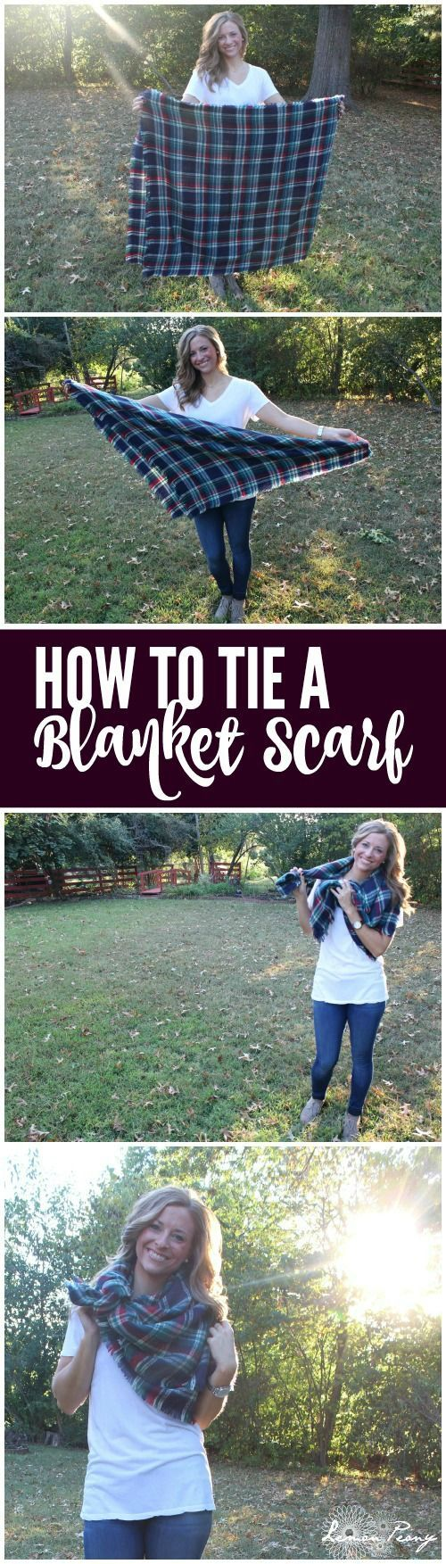 How to Tie a Blanket Scarf for Fall and Winter!! Easy Tutorial for my favorite ways to wear Blanket Scarves!