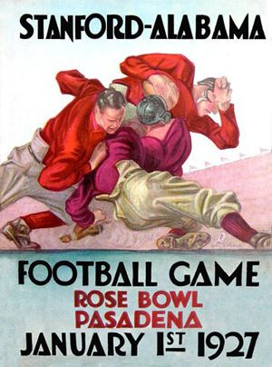 1927 Stanford -Alabama Football Game - 1927 Rose Bowl  Jan. 1, 1927  Alabama 7 - Stanford 7  Rose Bowl Stadium, Pasadena, Calif.