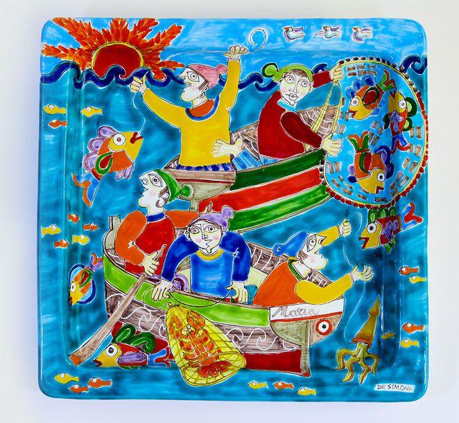 Ceramiche De Simone - Square Plates DS cm 37x37 Decoration01