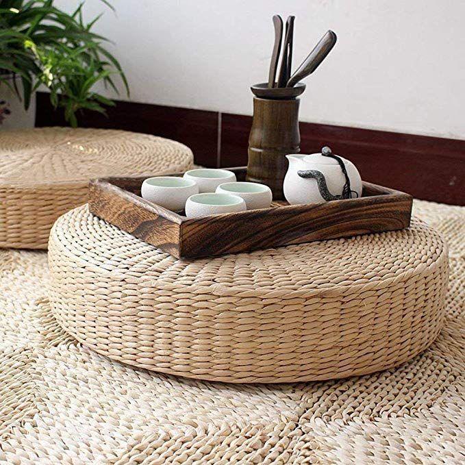 HUAWELL Japanese Seat Cushion Round Pouf