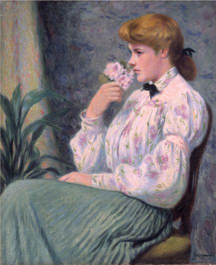 Ritratto di fanciulla con fiore Rêverie | Mart Zandomeneghi