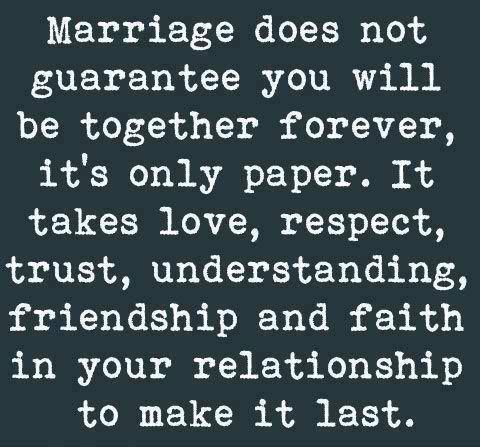 it takes two people working together to make a marriage