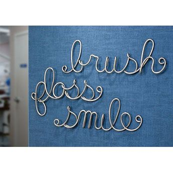 Dental Word Sculpture Set --- I want this!!