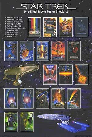Star Trek Movies - 1, ?, 2, ?, 3, 4, 4, 4, 5, 5, 6, 6, 7, 7, 8, 8, 9, 10, 10. So new Star Trek is really Star Trek XI.  Wow.
