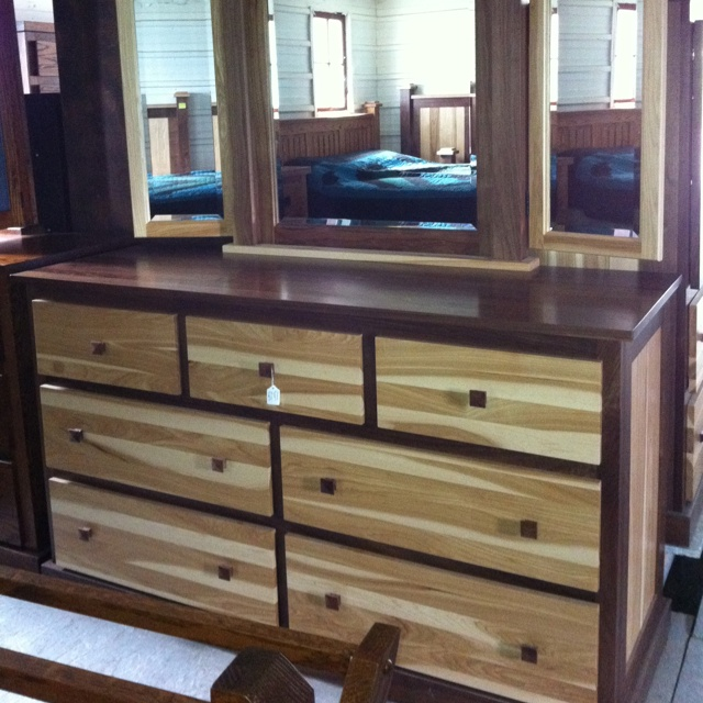 Beautiful Amish Hickory Walnut Dresser Dennis Hershberger Of Countrysi