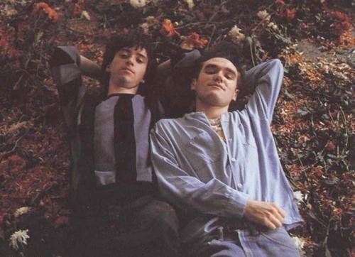 Johnny Marr and Morrissey of The Smiths (1983).