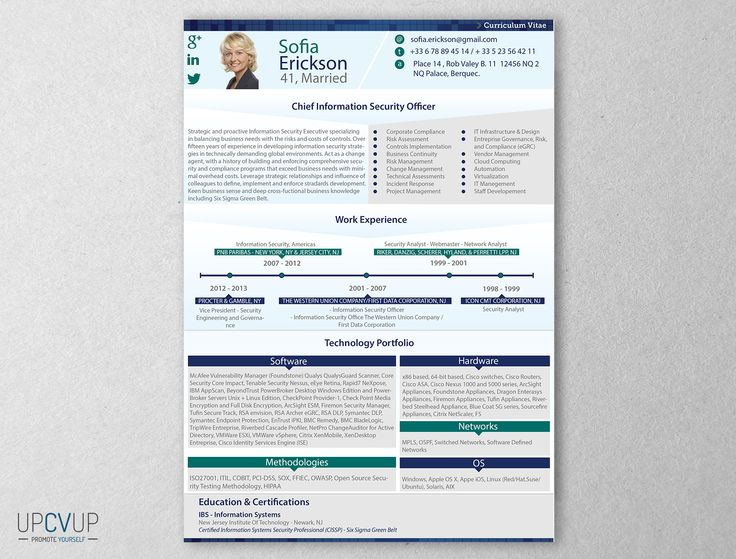 Chief Information Security Officer resume template