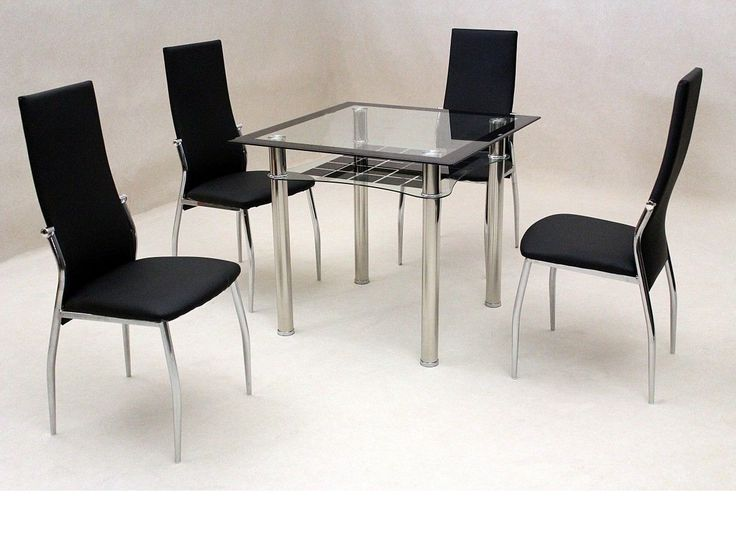 4 Optimal Choices In Glass Dining Table And Chairs: Best 25+ Black Glass Dining Table Ideas On Pinterest