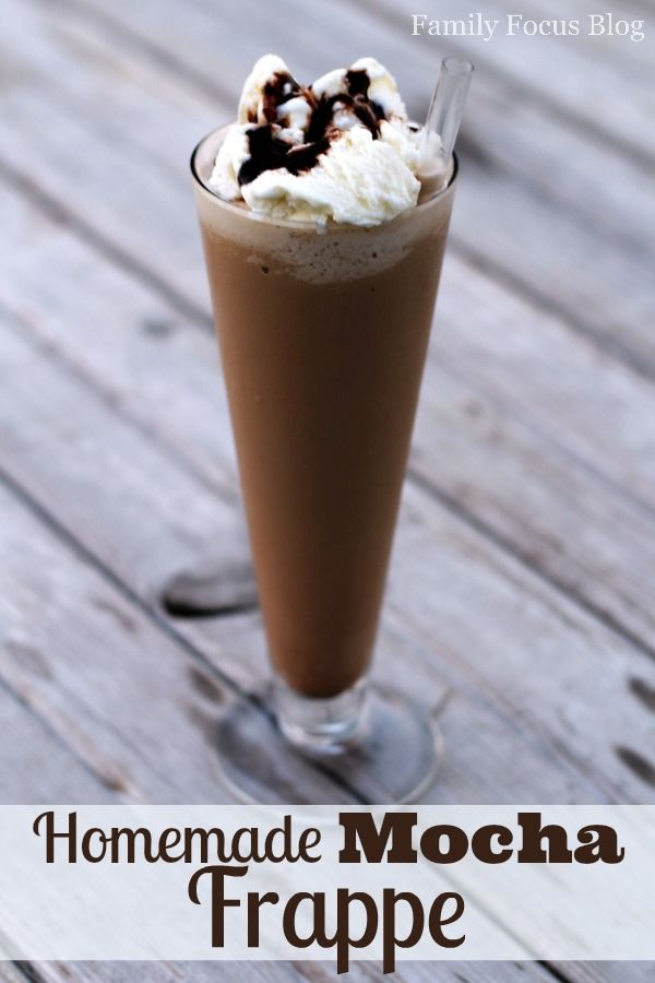 Homemade Mocha Frappe Recipe that is easy and delicious. Make Frappes at home that are healthier and less expensive than the…