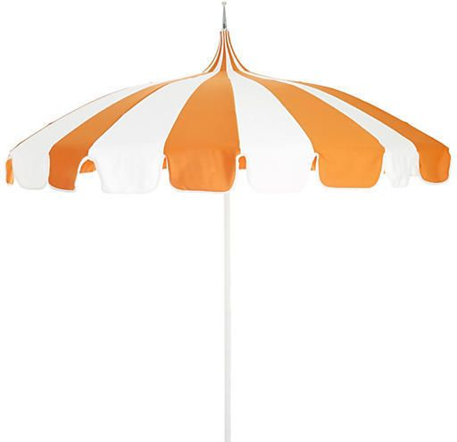 California Umbrella Pagoda Patio Umbrella - Orange