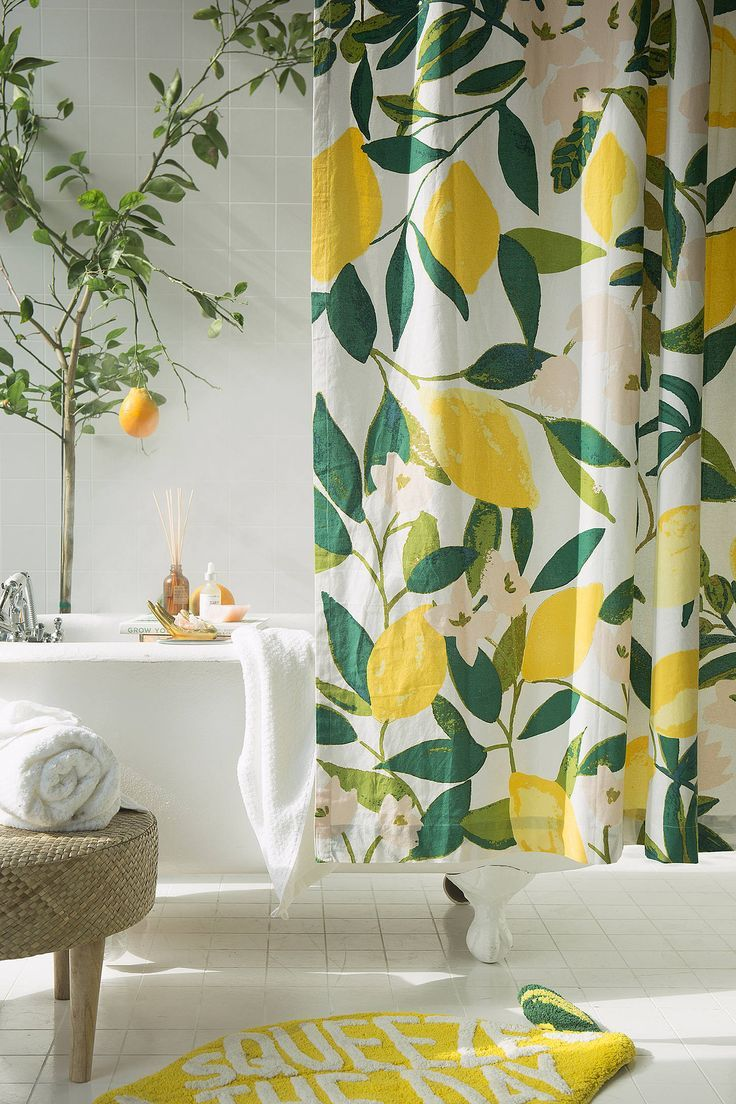 Allover Fruits Shower Curtain Deco Salle De Bain Accessoires De