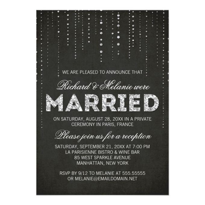 Reception After Destination Wedding Invitation: 9 Best Post-Reception Invitations Images On Pinterest
