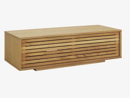 MAX NATURAL Wood Oak small AV unit - HabitatUK