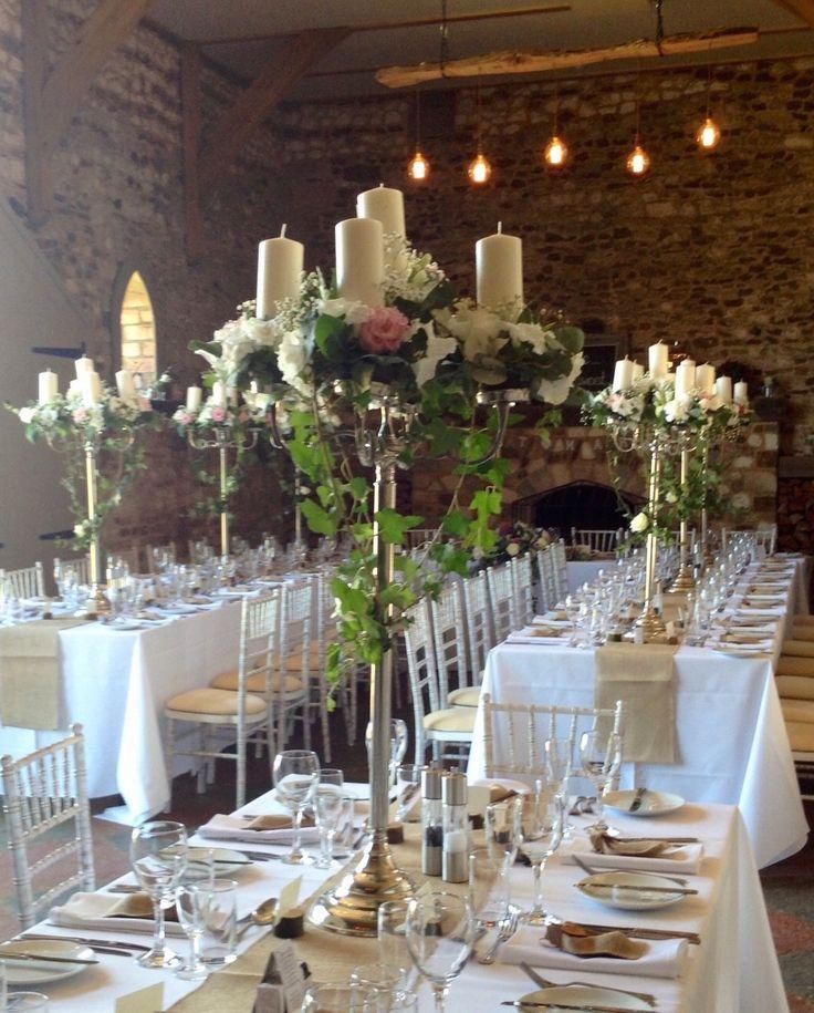 interesting wedding venues ireland%0A Close up of our stunning candelabra u    s  Thank you Bridget u    s Florist for  dressing them so beautifully