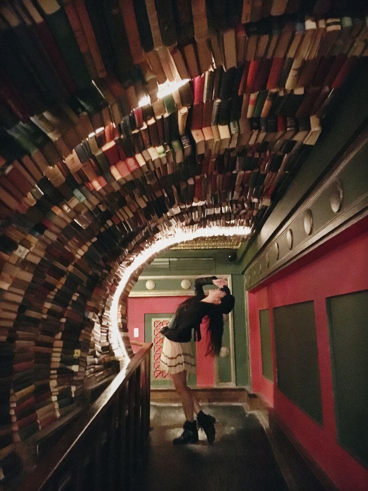 "samrosebooks: ""a tunnel of books """