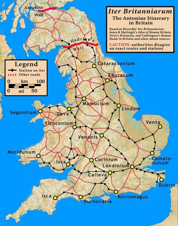 The Roman road network in Britain. | 21 Maps That Will Change How You Think About Britain