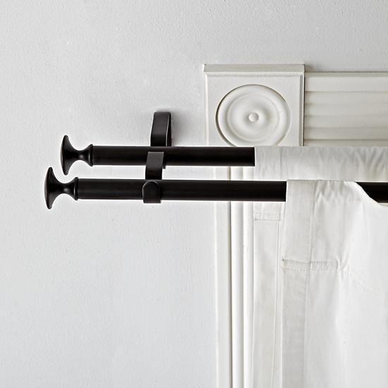 double black curtain rod
