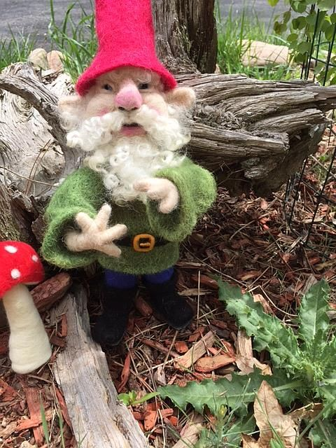 Needle Felted Forest Gnome - by Ulrike 'Ricky' Martin from Needle ...