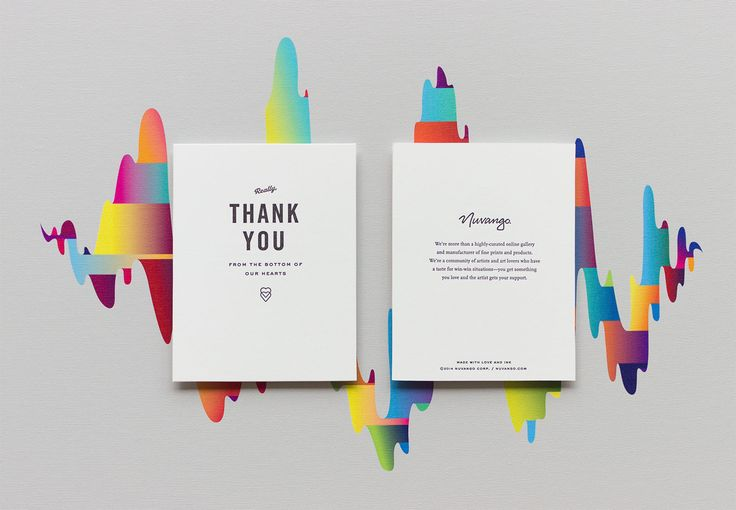 Nuvango Thank You Card Design - by Knoed Creative