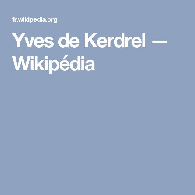 Yves de Kerdrel — Wikipédia