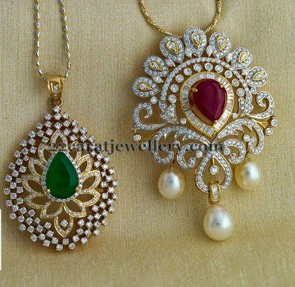 Paisley Design Diamond Lockets