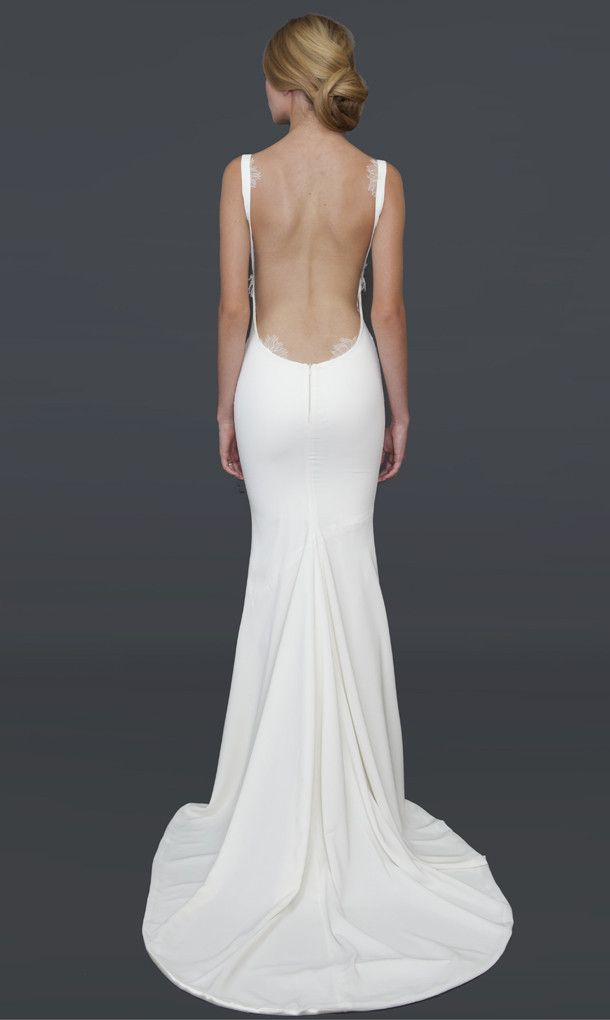 Best 25 backless wedding gowns ideas on pinterest for Simple mini wedding dress