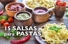 Aquí tienes muchas ideas para elaborar las principales salsas para pastas. Los ingredientes están calculados para 4 raciones (400 gr. de pasta aprox.)