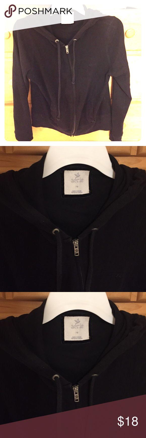 American eagle / Aerie black zip hoodie jacket American eagle / Aerie black zip hoodie jacket w/ drawstrings & pockets aerie Jackets & Coats