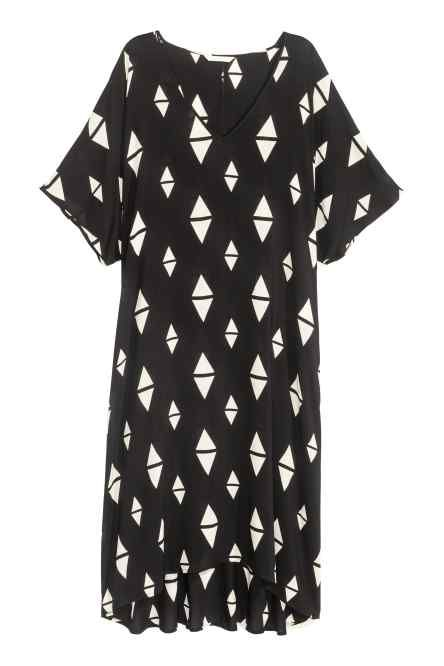 Patterned viscose dress