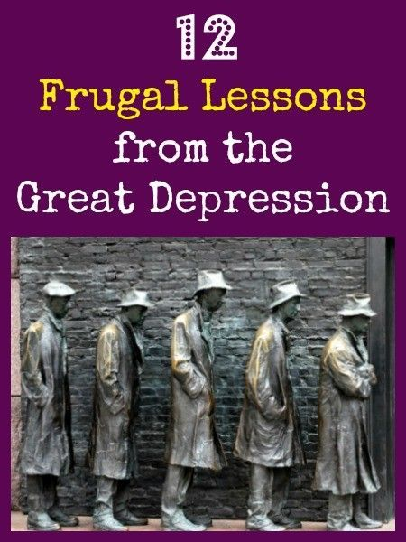 With today's uncertainties, it is good to recall some of the frugal lessons from the great depression. Here are twelve that are important.