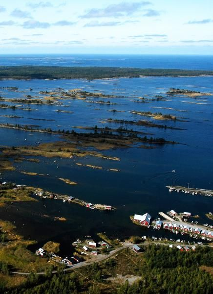 Merenkurkku / Kvarken archipelago, Finland. Known for its unique geological situation. The seabed is one of world's fastest to rise up from the sea, 1 cm/year, after last ice age. It makes new islands outside Finland all the time. The fishermen have difficulties to navigate between those and a big part of the western coastline of Finland is moving far out to the sea. The mainland is increasing. Listed on the UNESCO Heritage List in both Sweden and Finland.