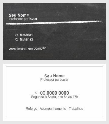 cartão de visita professor particular 2