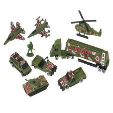Camouflage Army Party Army Vehicle Party Favor Set
