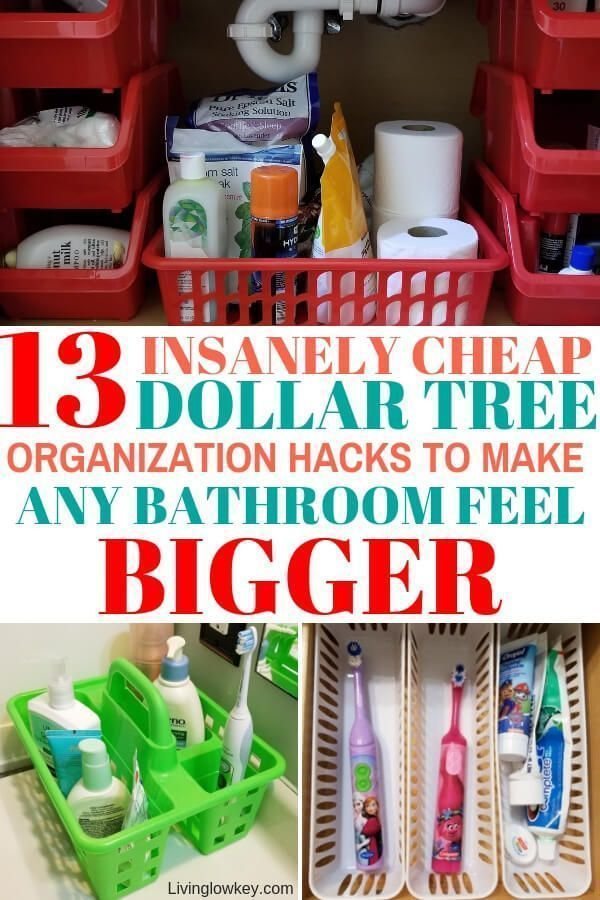 13 Insanely Cheap Bathroom Organization Ideas Found At The Dollar Tree