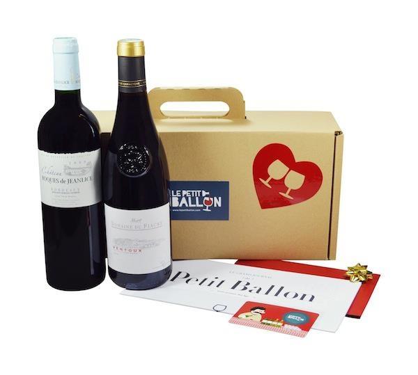 Le Petit Ballon - boite à vin à recevoir tous les mois. Wine box you receive every month. France.