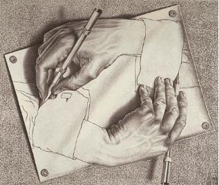 Las Manos dibujantes de Escher