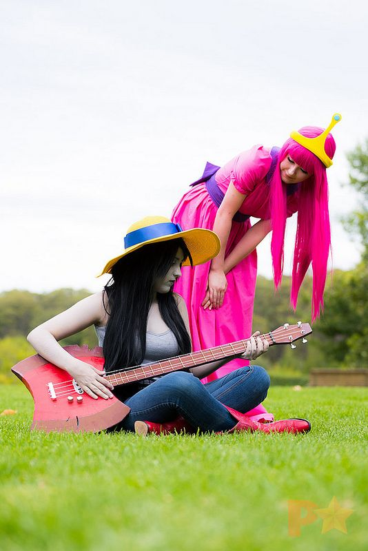 Marceline and Princess Bubblegum Adventure Time #cosplay