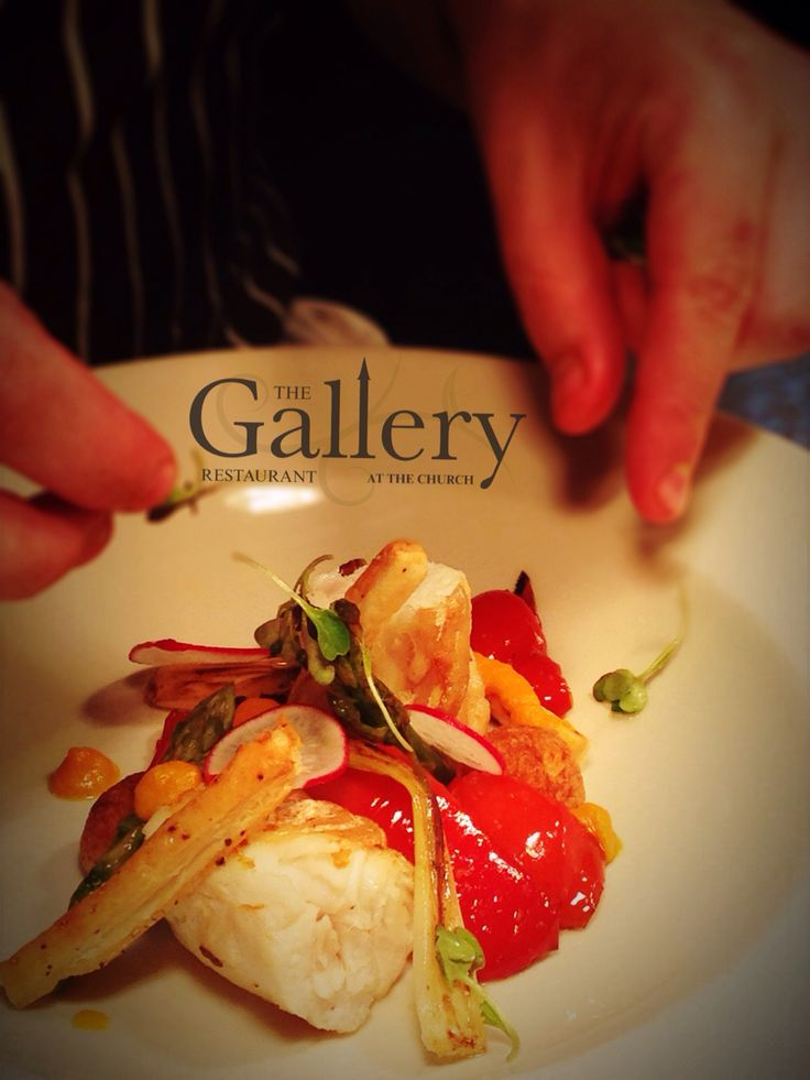 Gallery Restaurant Nightly Special: Ballotine of Hake served with charred scallions, roasted peppers, pumpkin purée & roasted potatoes. #food #dublin #restaurant #TheChurchBarDublin